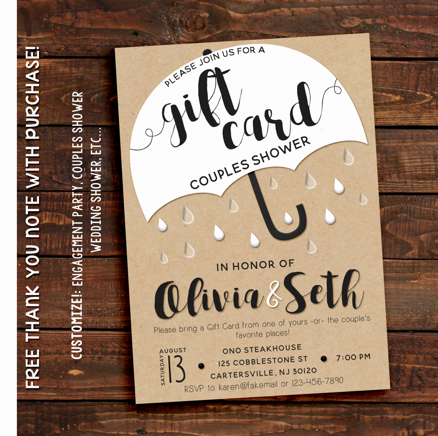 Card Shower Invitation Wording Elegant Couples Shower Invitation Couples Shower Invitation