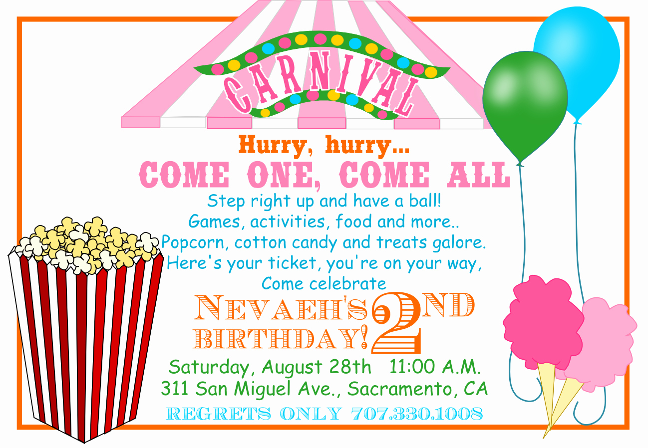 Carnival Invitation Template Free Best Of 40th Birthday Ideas Carnival Birthday Invitation Template