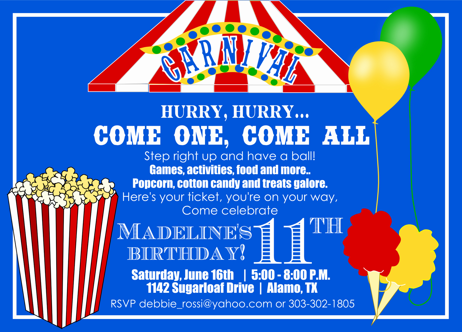 Carnival Invitation Template Free Best Of Carnival themed Invitations Templates