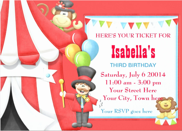 Carnival Invitation Template Free Elegant 27 Carnival Birthday Invitations Free Psd Vector Eps