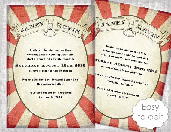 Carnival Invitation Template Free Elegant Carnival Invitation Template Printable Wedding Invitations