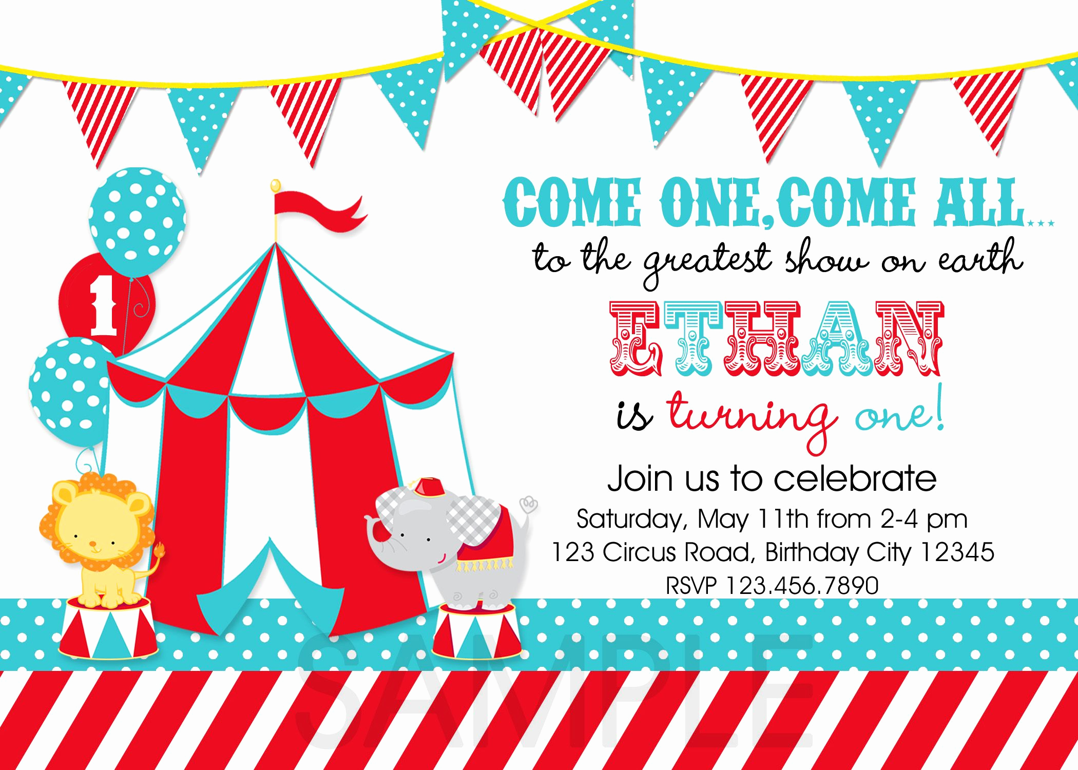 Carnival Invitation Template Free Fresh Circus Party Invitations Template 3zcfy9xw