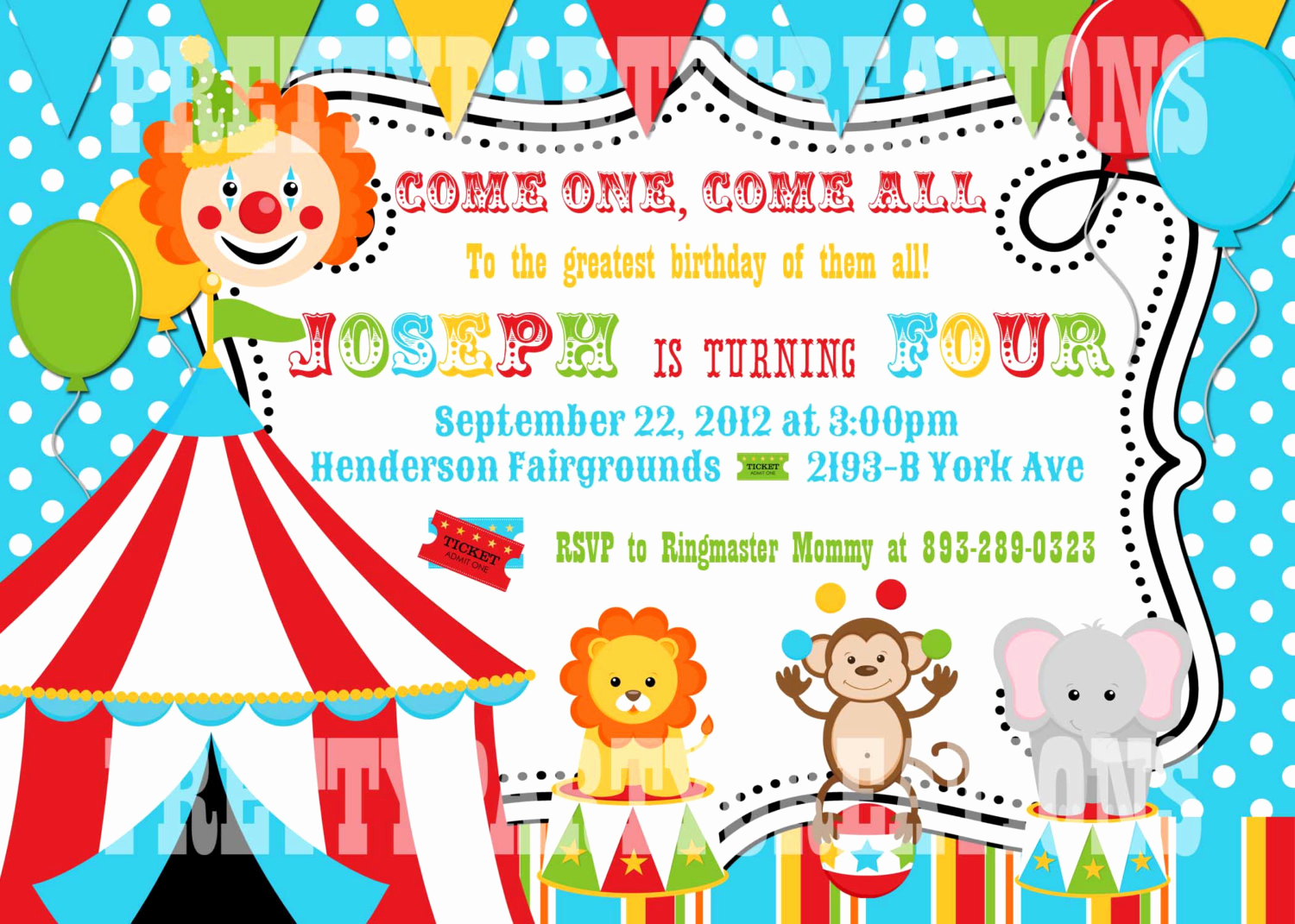 Carnival Invitation Template Free Inspirational Free Printable Carnival Birthday Invitations
