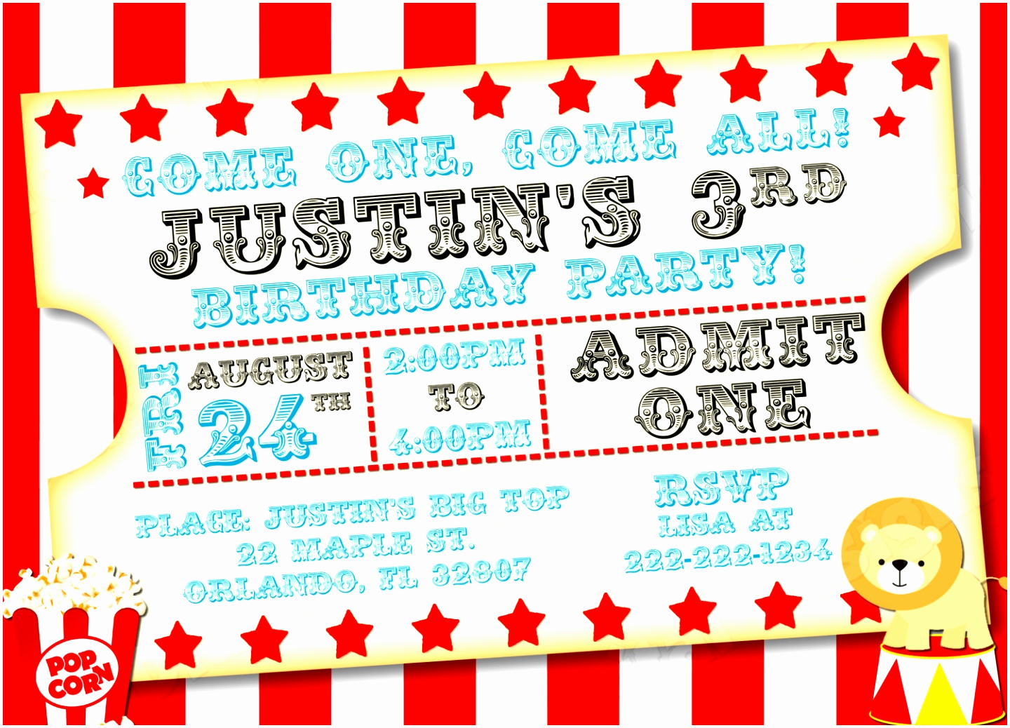 Carnival Invitation Template Free Lovely 7 Carnival Party Invitation Templates Opttt
