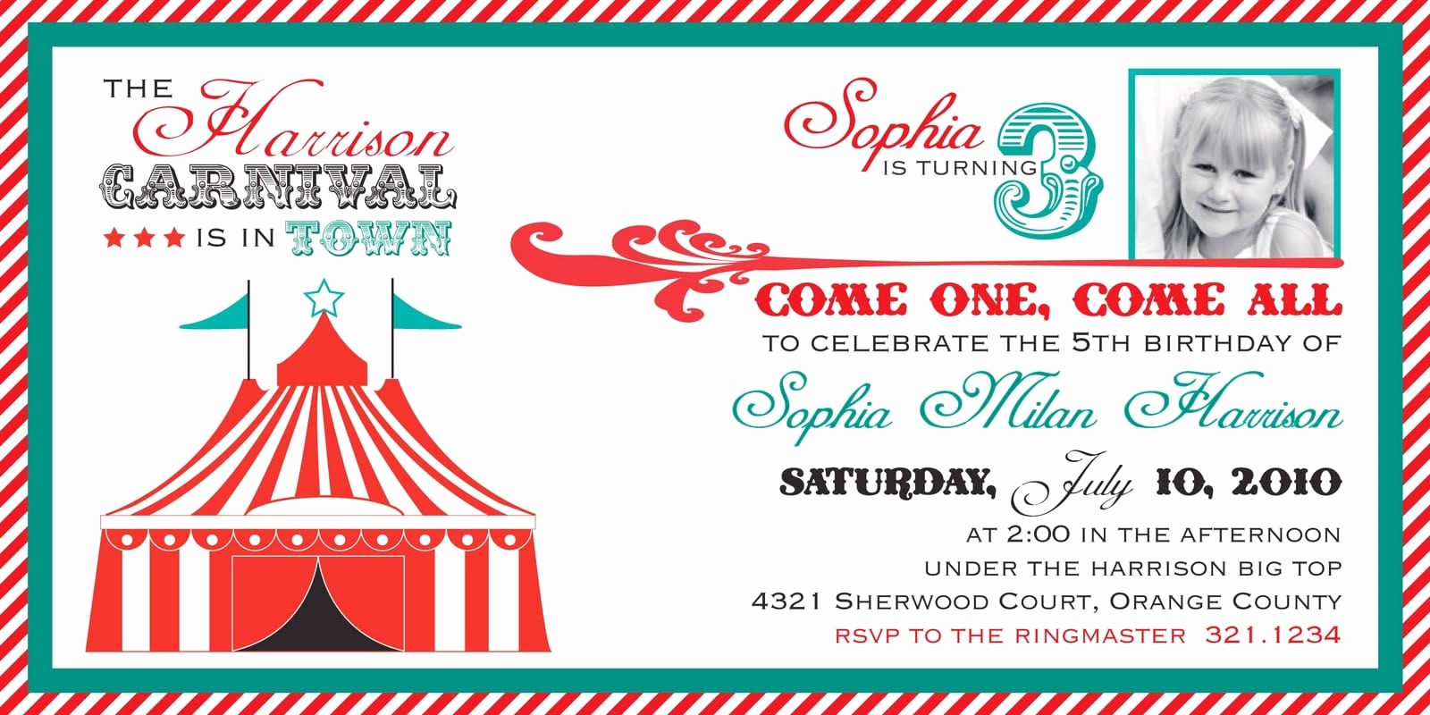 Carnival Invitation Template Free New Free Ticket Invitation Template