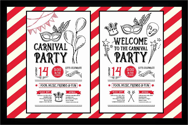Carnival Invitation Templates Free Awesome 8 Carnival Party Invitations Psd Ai Vector Eps