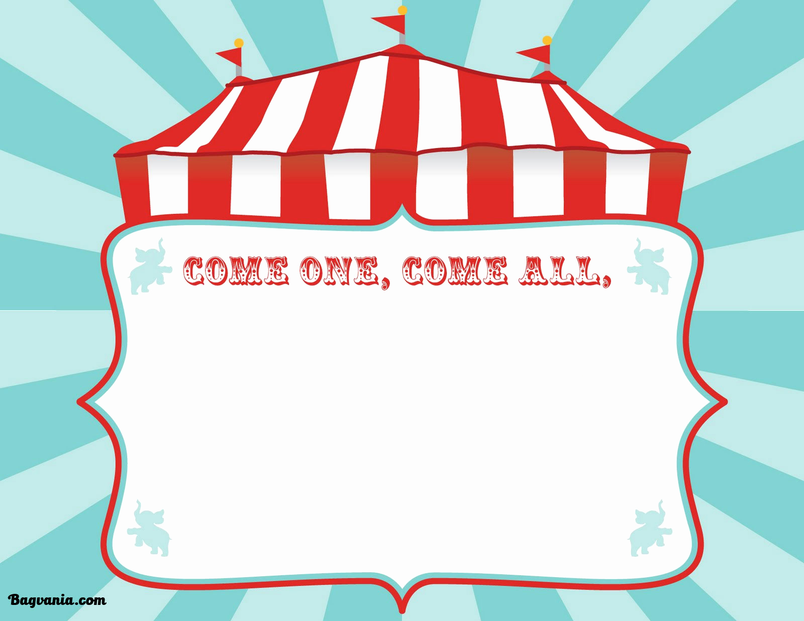 Carnival Invitation Templates Free Beautiful Free Printable Circus Birthday Invitations Template – Free