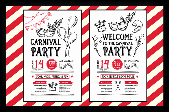 Carnival Invitation Templates Free Best Of Circus Party Invitation Template – 23 Free Jpg Psd