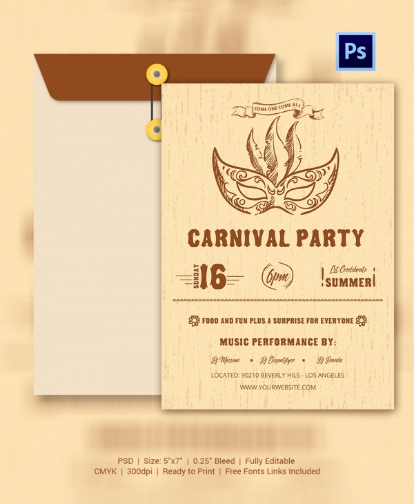 Carnival Invitation Templates Free Elegant 25 Circus Party Invitation Templates Jpg Psd