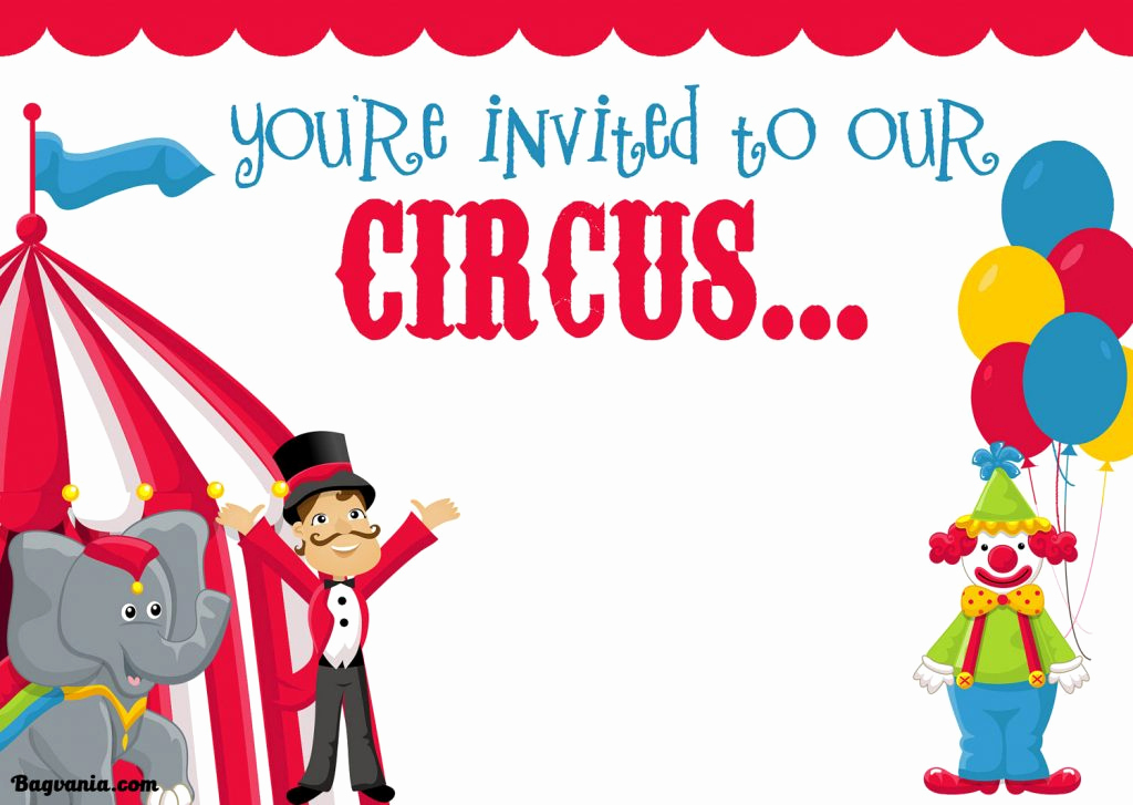 Carnival Invitation Templates Free Fresh Free Printable Circus Birthday Invitations Template – Free