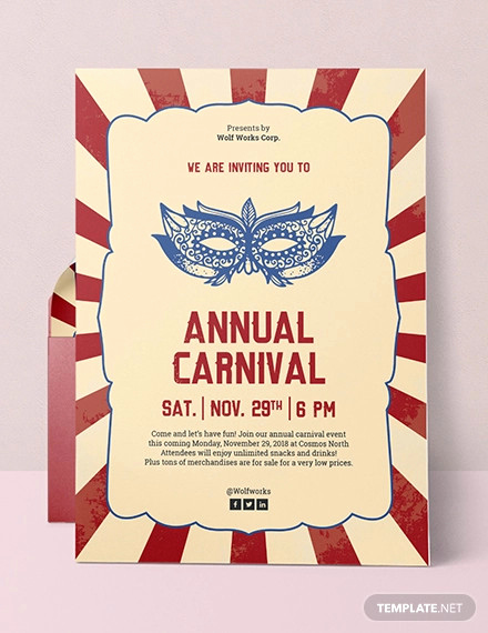 Carnival Invitation Templates Free Inspirational 25 Circus Party Invitation Templates Jpg Psd
