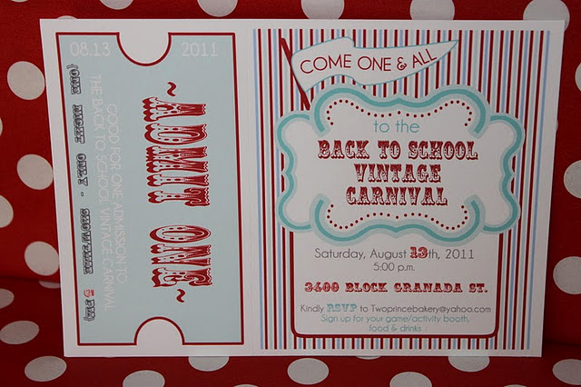 Carnival Invitation Templates Free Lovely the Purple Pug Step Right Up Carnival Block Party Ridic
