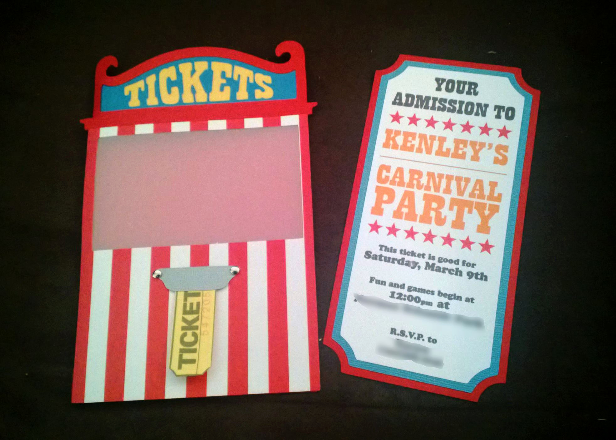 Carnival Ticket Invitation Template Awesome Carnival Invites Ticket Booth Cutouts Carnival Svg