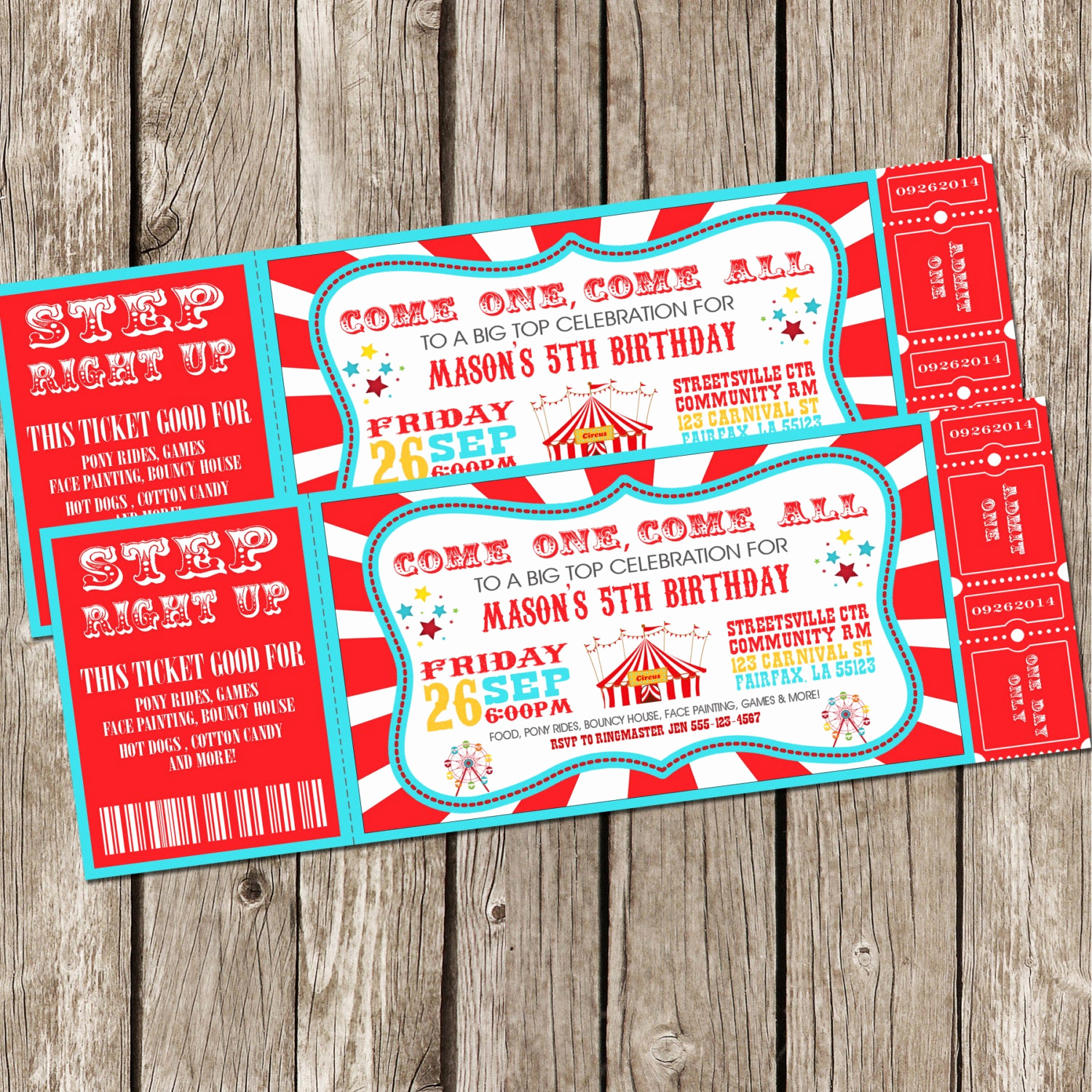 Carnival Ticket Invitation Template Best Of Vintage Circus Carnival Invitation Ticket Invitation