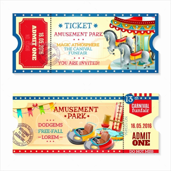 Carnival Ticket Invitation Template Free Awesome 15 Carnival Ticket Templates Free Psd Ai Vector Eps