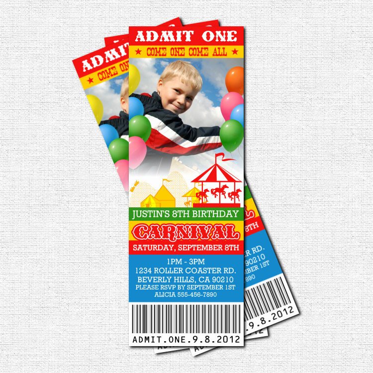 Carnival Ticket Invitation Template Free Awesome Free Carnival Ticket Invitation Template Download Free