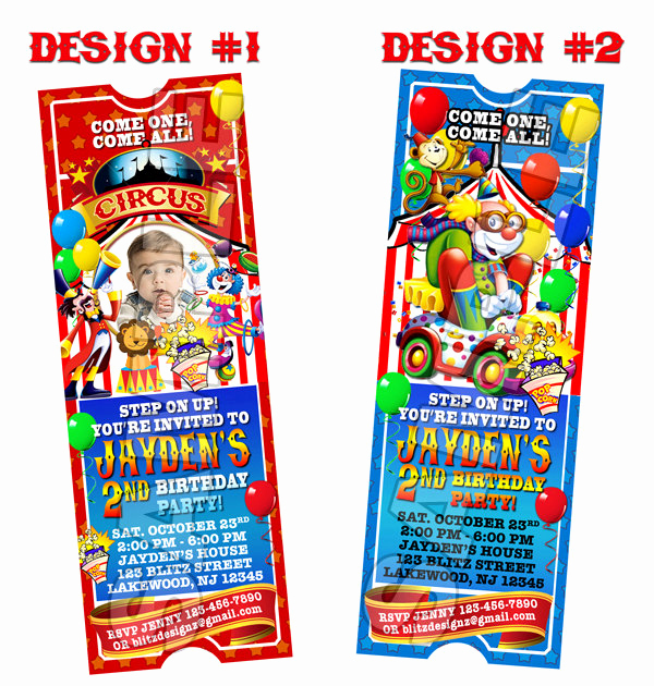 Carnival Ticket Invitation Template Free Elegant Circus Carnival Birthday Party Ticket Invitations