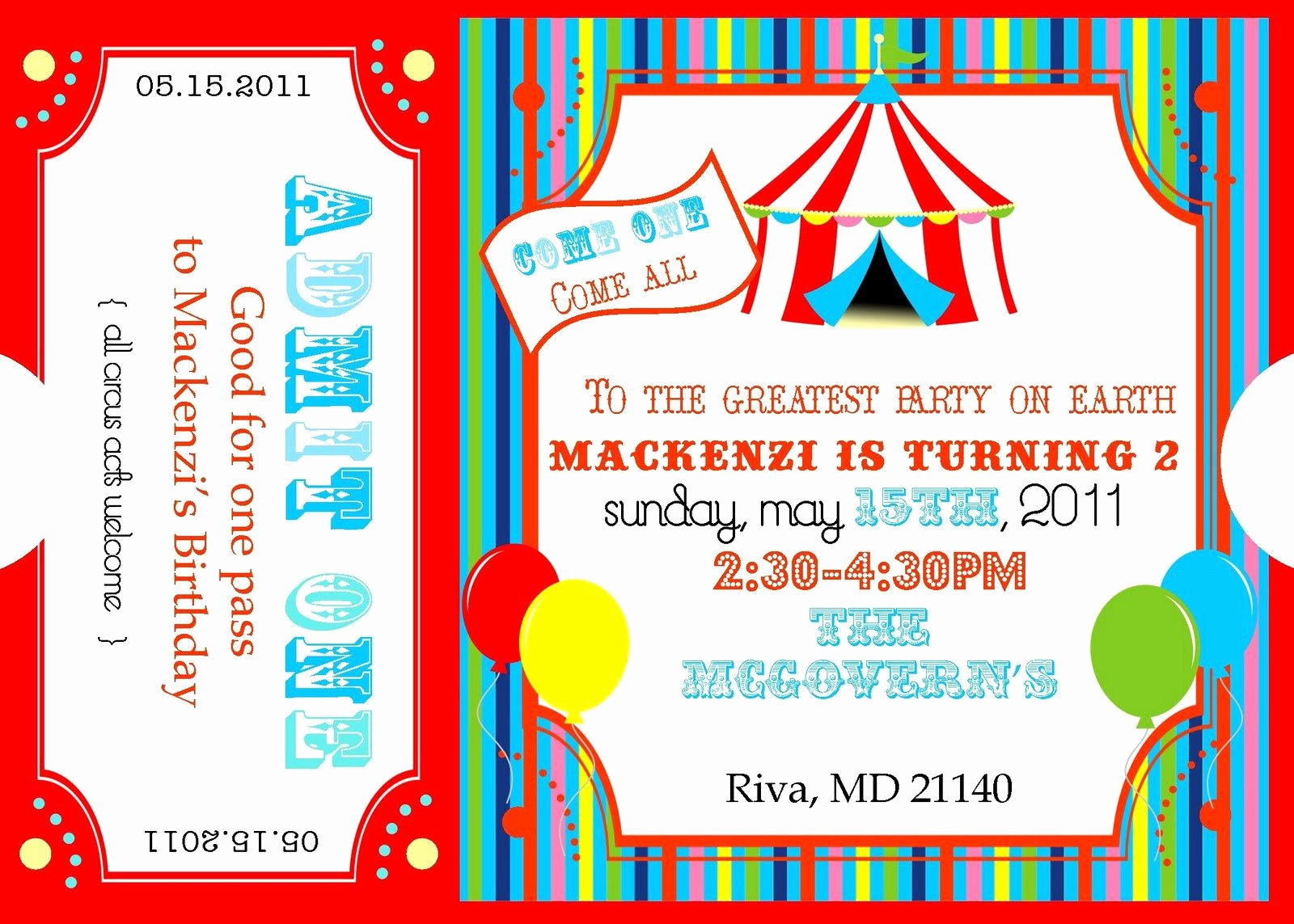 Carnival Ticket Invitation Template Free Inspirational Free Printable Circus Invitation Templates Please forgive