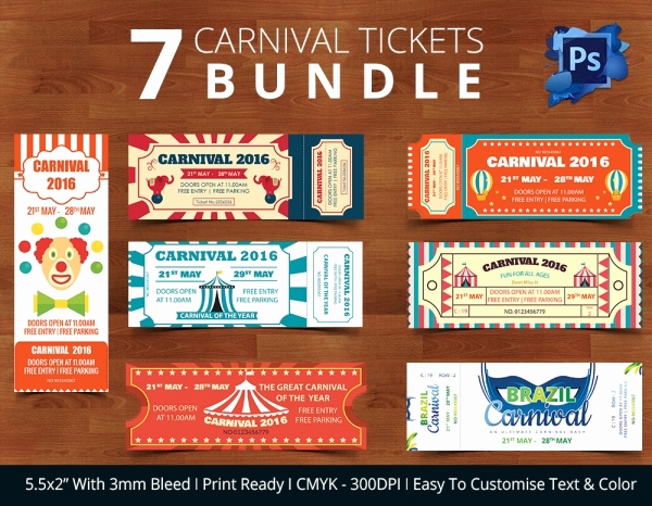 Carnival Ticket Invitation Template Free Lovely Ticket Invitation Template 61 Free Psd Vector Eps Ai