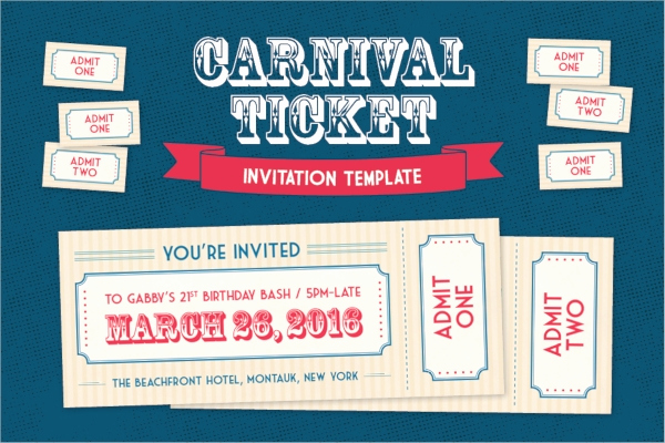 Carnival Ticket Invitation Template Free Luxury 38 Ticket Invitation Templates Psd Eps Ai