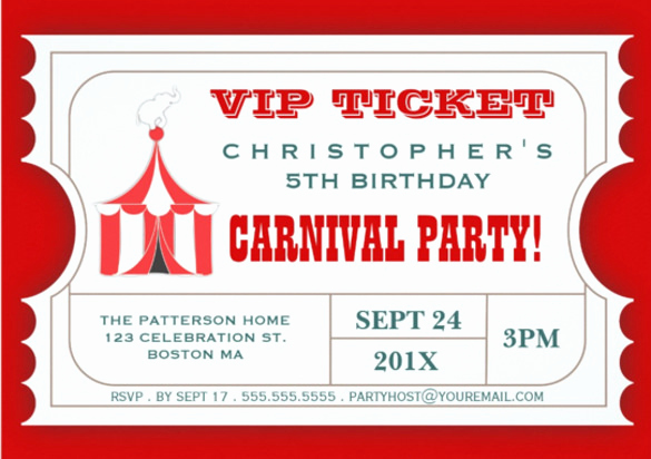 Carnival Ticket Invitation Template Lovely 49 Ticket Invitation Templates Psd Ai Word Pages