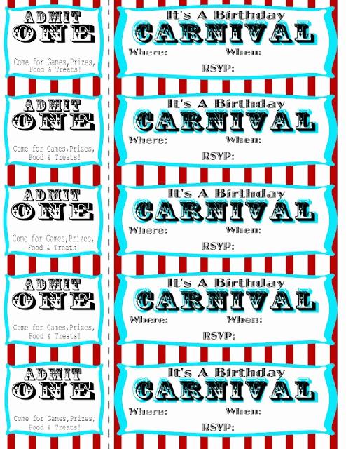 Carnival Ticket Invitation Template Luxury Seeshellspace Carnival Free