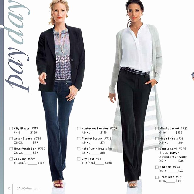 Carol anderson by Invitation Catalog Luxury Cabi Spring 2014 Business Casual