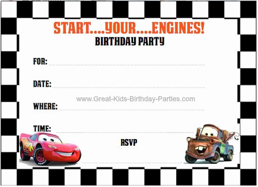 Cars Invitation Template Free Awesome Best 25 Cars Birthday Invitations Ideas On Pinterest