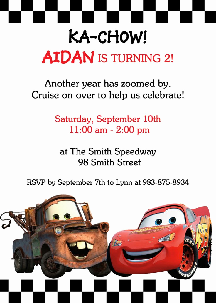 Cars Invitation Template Free Best Of 17 Best Ideas About Cars Birthday Invitations On