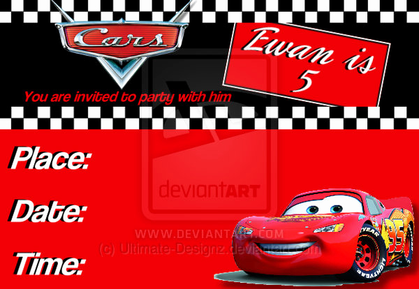 Cars Invitation Template Free Elegant Disney Pixar Cars Birthday Invitations — Birthday