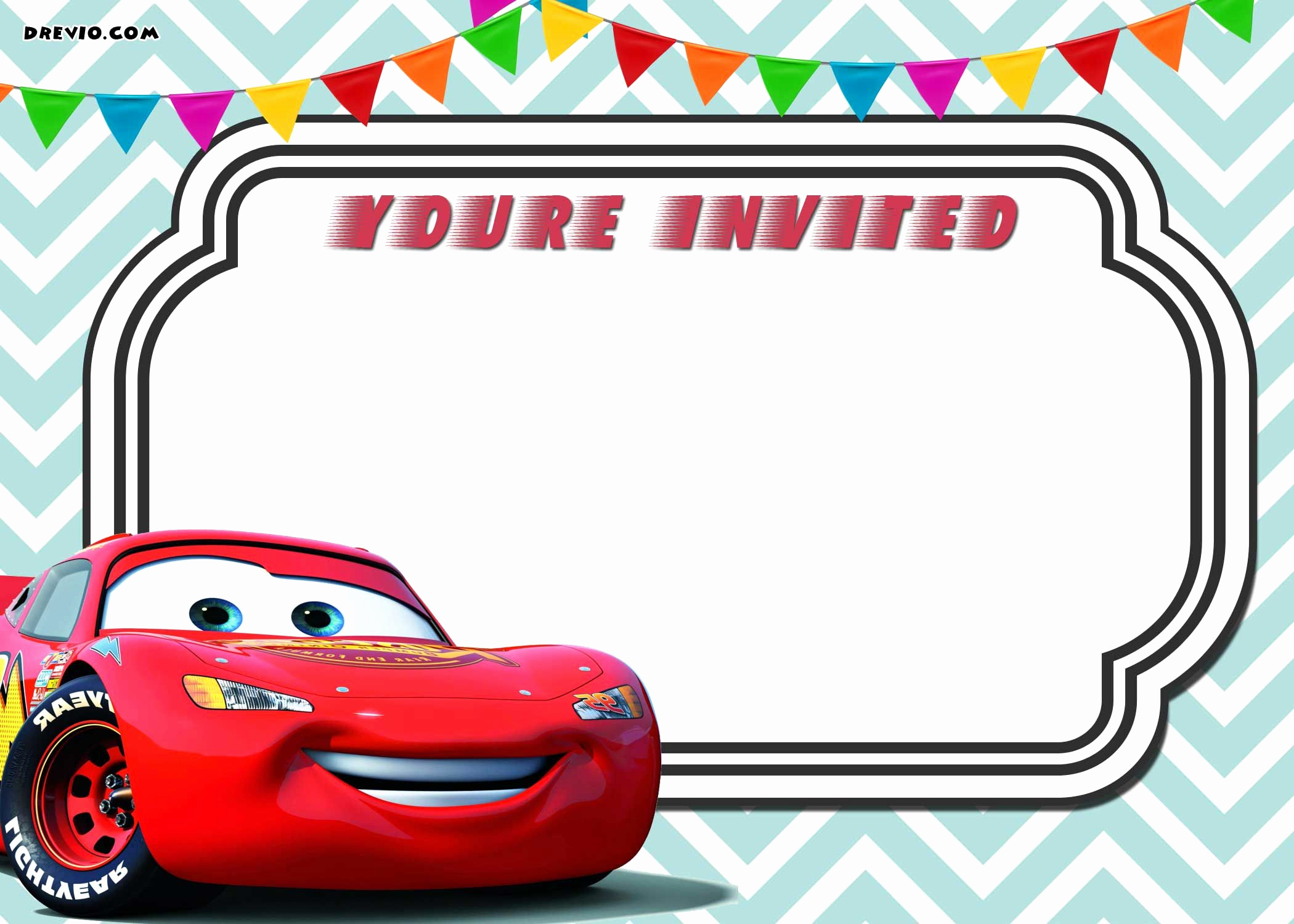 Cars Invitation Template Free Lovely Awesome Free Printable Cars 3 Lightning Mcqueen Invitation