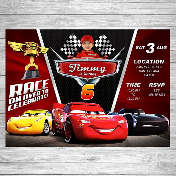 Cars Invitation Template Free Lovely Disney Cars 3 Birthday Invitation Cars 3 Party Invite