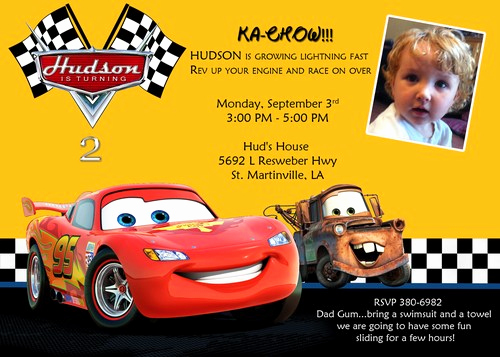 Cars Invitation Template Free New Disney Cars Birthday Invitations Ideas – Bagvania Free