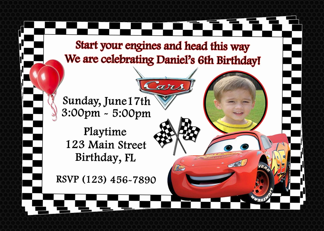 Cars Invitation Template Free Unique Free Printable Birthday Invitations Cars Disney