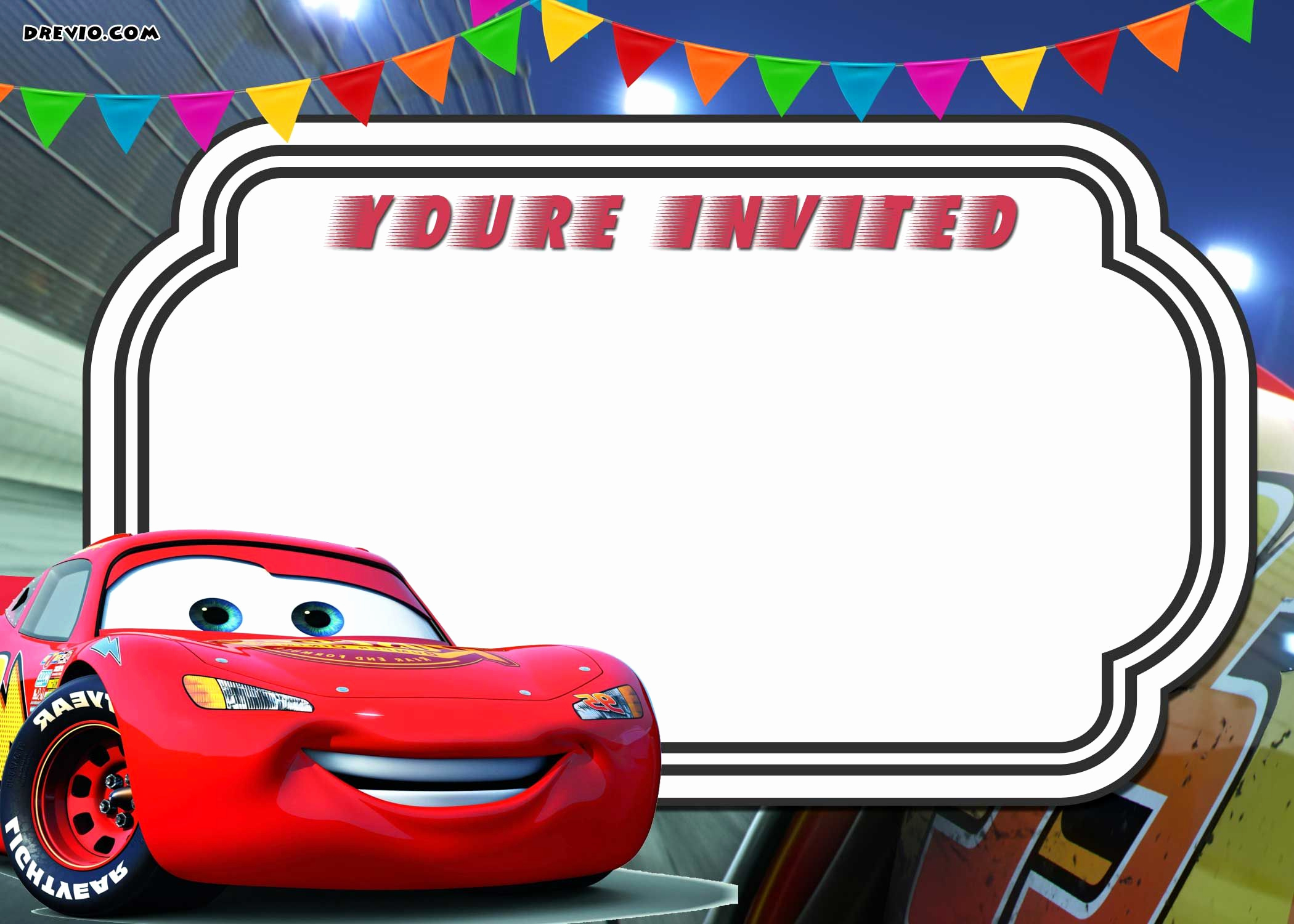 Cars Invitation Template Free Unique Free Printable Cars 3 Lightning Mcqueen Invitation