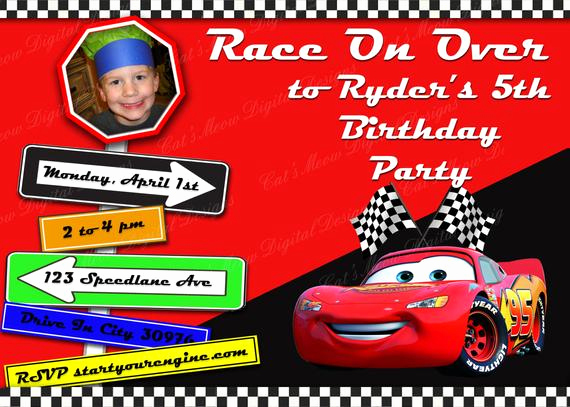 Cars Invitation Template Free Unique Items Similar to Pixar Cars Printable Birthday Invitation
