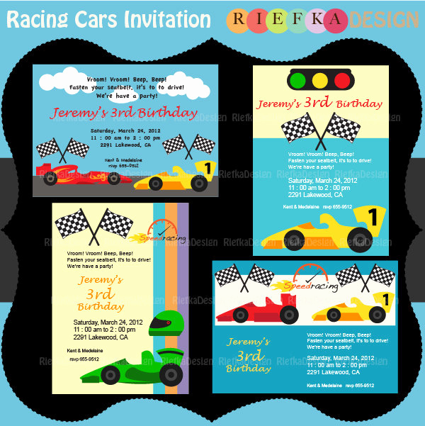 Cars Invitation Template Free Unique Racing Cars Invitation Race Cars Invites Blank Invitation
