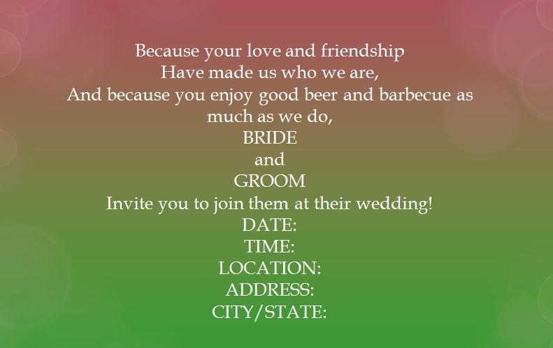 Casual Wedding Invitation Wording Awesome 15 Samples for Casual Invitation Wording for Wedding