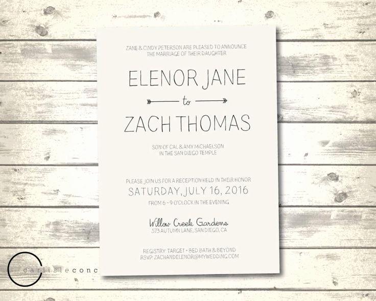 Casual Wedding Invitation Wording Elegant 17 Best Ideas About Casual Wedding Invitation Wording On