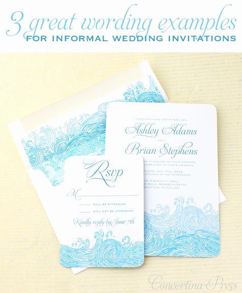 Casual Wedding Invitation Wording Luxury Best 25 Informal Weddings Ideas On Pinterest