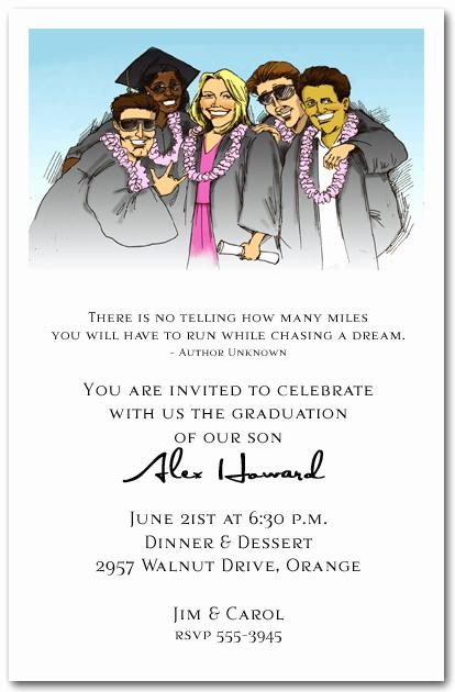 Catchy Graduation Invitation Phrases Inspirational Fun Group Graduation Party Invitation Graduation Invitation
