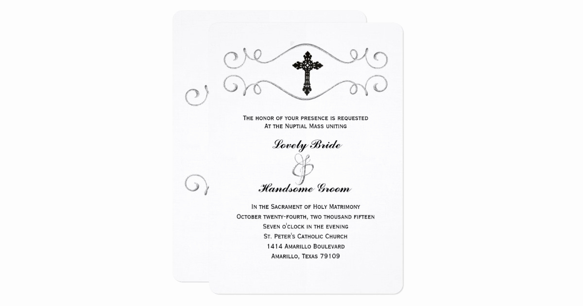 Catholic Wedding Invitation Wording Best Of Elegant Celtic Cross Catholic Wedding Invitation
