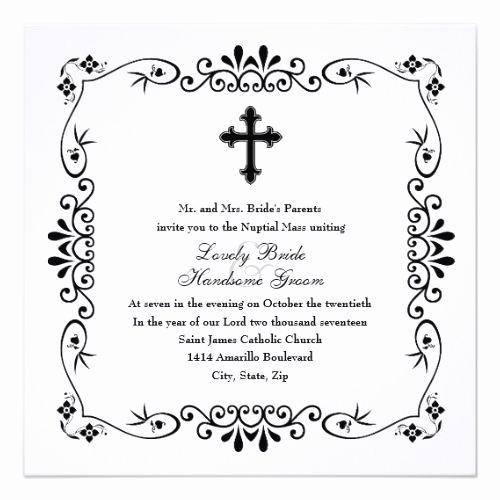 Catholic Wedding Invitation Wording Lovely 177 Best Catholic Wedding Invitations Images On Pinterest