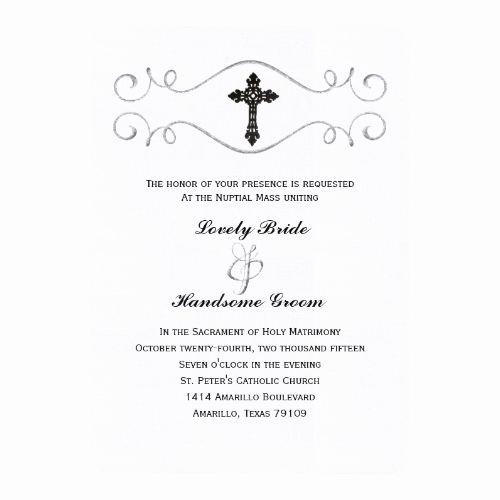 Catholic Wedding Invitation Wording Unique 177 Best Catholic Wedding Invitations Images On Pinterest