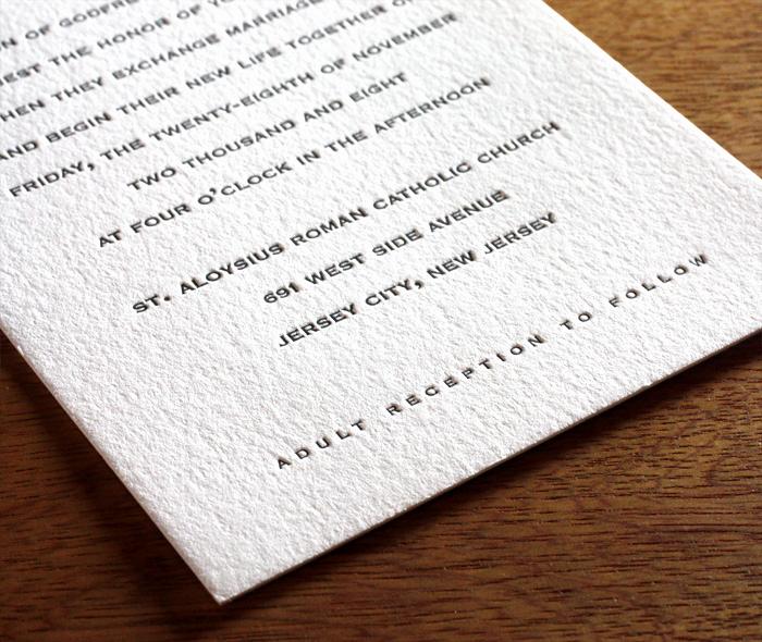 Catholic Wedding Invitation Wordings Best Of Catholic Reception Card Letterpress Christine