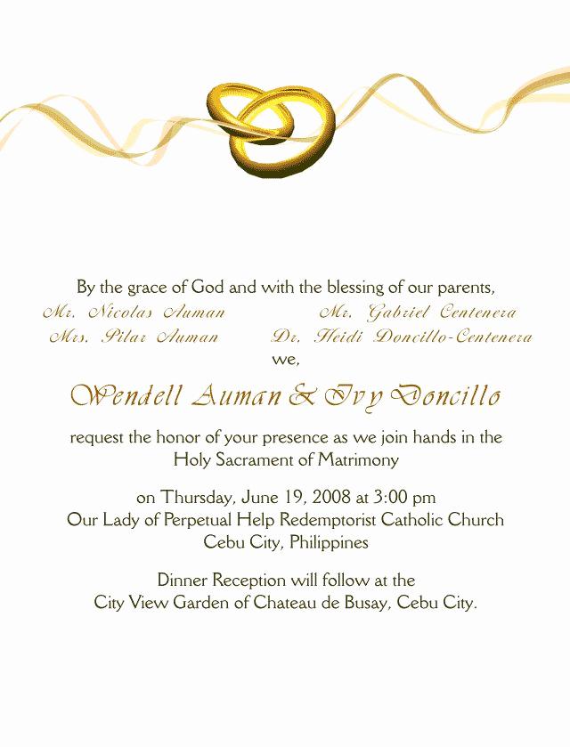 Catholic Wedding Invitation Wordings Elegant 40 Best Images About Wedding Invitation Cards On Pinterest