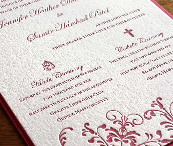 Catholic Wedding Invitation Wordings Luxury Religious Letterpress Wedding Invitation Cards Catholic