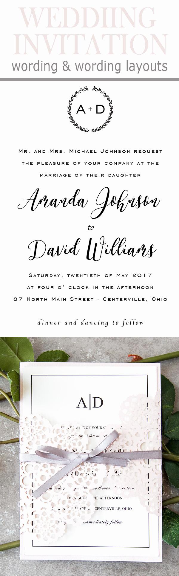Catholic Wedding Invitation Wordings Unique 20 Popular Wedding Invitation Wording & Diy Templates Ideas