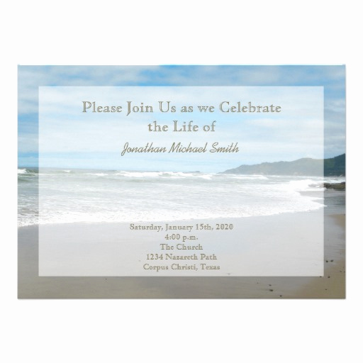 "Celebration Of Life Invitation Beautiful Celebration Of Life Invitation 5"" X 7"" Invitation Card"