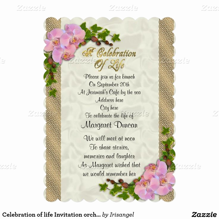 Celebration Of Life Invitation Fresh 17 Best Images About Celebration Of Life Invitations On